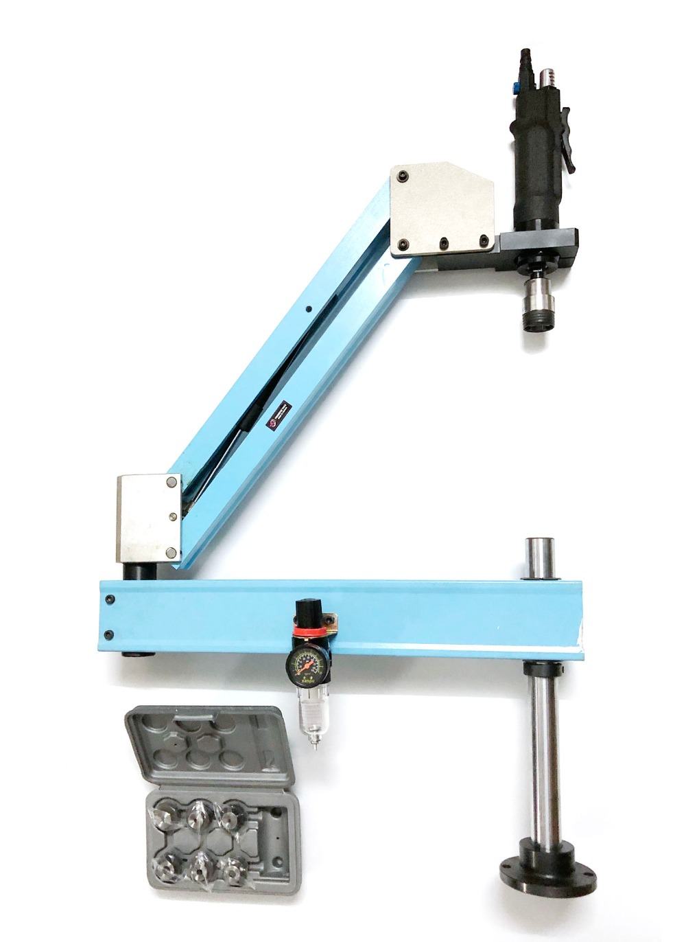 M3-M12 Vertical Type Pneumatic Air Tapping Tool Machine-working Taps Threading Machine Tapping Capacity Pneumatic Tapper Tools high quality at 012 l m3 m12 automatic pneumatic tapping machine air tapper tool with work reach 1900mm