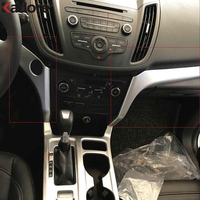 Accessories For Ford Escape Kuga 2017 2018ABS Matte Interior Center ...