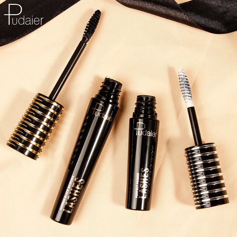 Pudaier 2 In 1 Black Mascara Eyelash Mate Cream 3D Fiber Makeup Eyelashes Lengthening Mascara Volume Eyelash in Mascara from Beauty Health