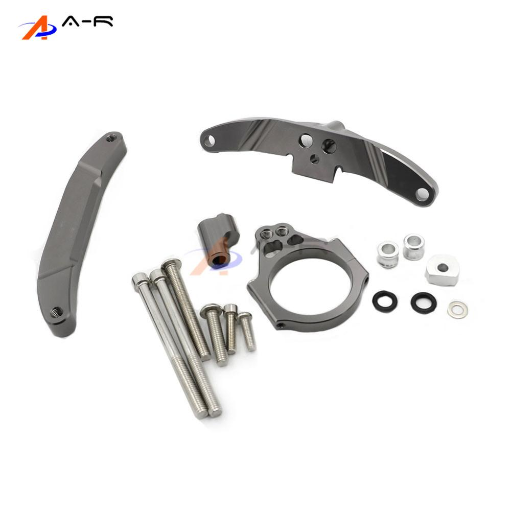Titanium CNC Direction Steering Damper Stabilizer Bracket for Yamaha FZ1 FAZER 2006-2015 2014 2013 2012 2011 2010 2009 2008 2007