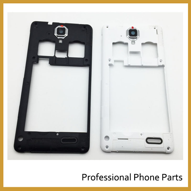 2 Color Middle Frame Bezel Case Cover For Lenovo A536 A358T Replacement Parts, Black/ White