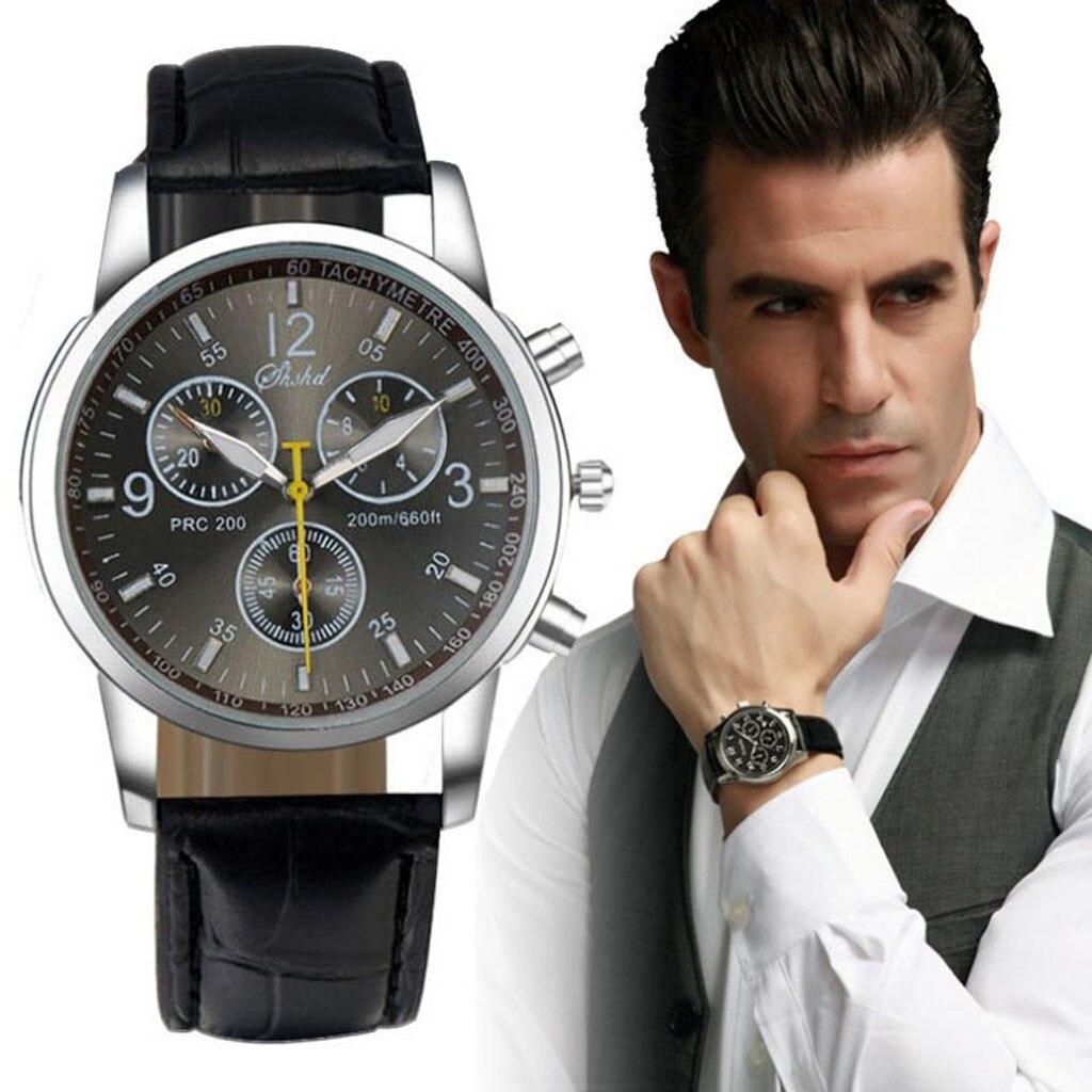 2019 New Luxury Analog Men Watch Fashion Crocodile Faux Leather Men Top Brand Luxury Digital Smart Business wristwatches 0623