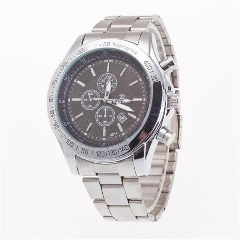 2018 Original Luxury Mens Business Day Watch Stainless Steel Belt Fashion Male Quartz Wrist Watch Relogio Masculino Gift