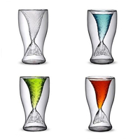 Beautiful Mermaid Tail Double Wall Cocktail Glass Wine Cup Beer Whisky Coffee Cup Glassware Bar Tools