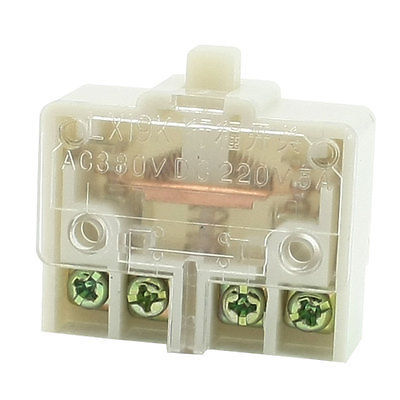 AC 380V DC 220V 5A DPST Clear Plastic Shell Button Actuator Limit Switch LX19K-K цены онлайн