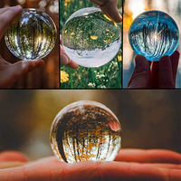 Wholesale 80mm 5 Pieces Clear Professional Photography K9 Globe Crystal Glass Sphere
