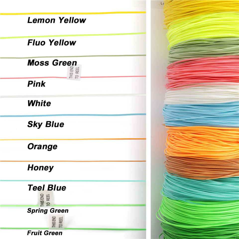 Maximumcatch 100FT 2/3/4/5/6/7/8/wt Fly Fishing Line Weight Forward Floating Fly Line Multi Colors Fishing Line maximumcatch 100ft wf4 5 6 7 8f switch fly fishing line weight forward floating fly line with two welded loops fishing line