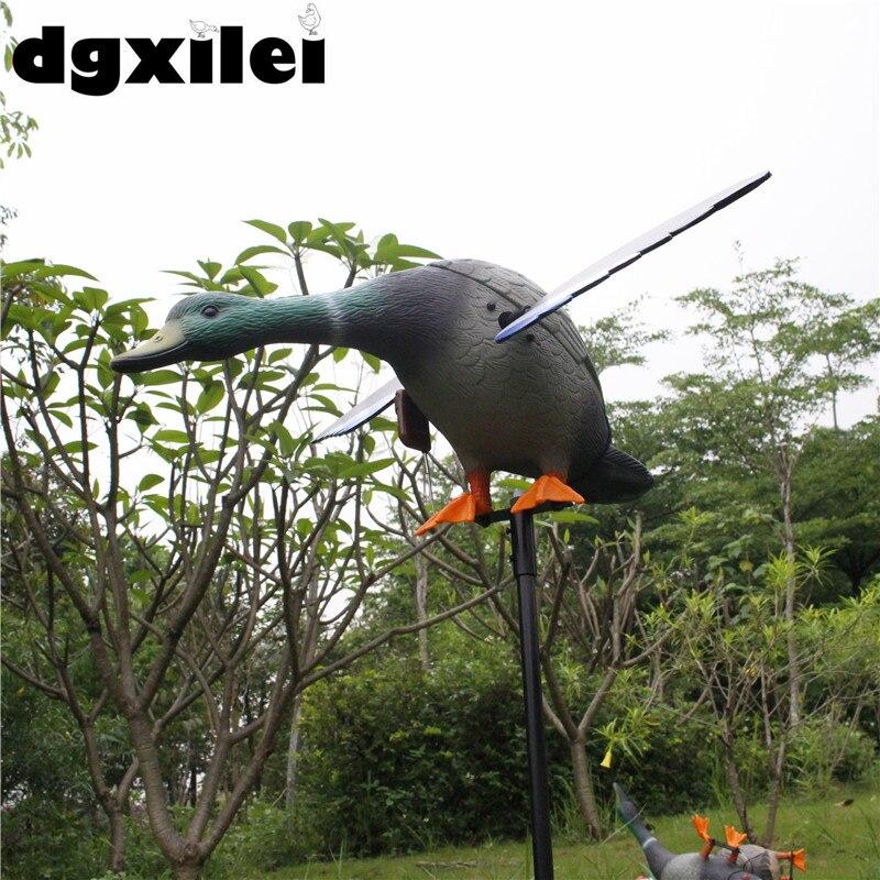 Leurres de chasse motorisés en plastique Dc 6 V canard de chasse avec ailes tournantes - 4