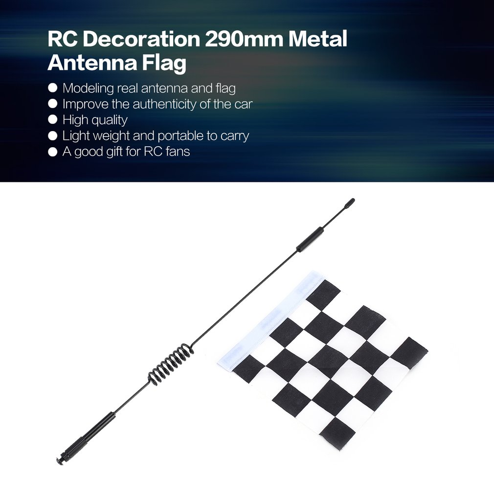 Remote Control Toys Diligent Rc Decoration 290mm Metal Antenna Flag Accessories Toy For Rc Car Crawler Traxxas Hsp Redcat Rc4wd Tamiya Axial Scx10 D90 Hpi Bringing More Convenience To The People In Their Daily Life Parts & Accessories