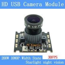 PU`Aimetis Surveillance camera 1080p Full Hd MJPEG 30fps Starlight night vision WDR Mini CCTV Linux UVC 2MP USB Camera Module