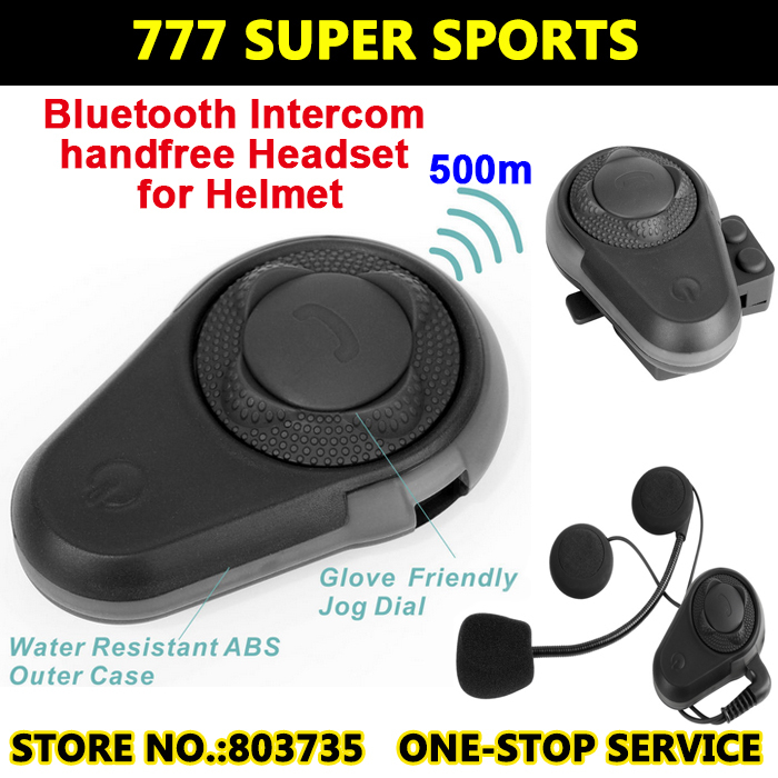 BT Motorcycle font b Helmet b font Intercom Headset Walkie Talkie Capacetes Casco Bluetooth Headphone