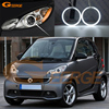 Excellent Quality Ultrabright Headlight Illumination CCFL Angel Eyes Kit For Smart Fortwo W451 2007 2014 Halo