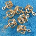 20 UNIDS Aleación de Oro Hollow Estéreo 3D Corona Encantos del Colgante de Collar de La Joyería Llavero Accesorio 14*9*9 MM 39239