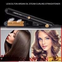2017 Professional Argan Oil Vapor Steam Hair Flat Iron Portable Ceramic Hair Straightener Salon Hair