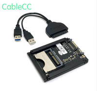 SATA 22Pin to USB 3.0 to CFast Card adapter 2.5 inch Hard Disk Case SSD HDD CFast Card Reader for PC Laptop