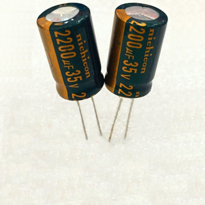 10pcs high quality 35V2200UF High frequency and low resistance  high-temperature  Electrolytic capacitor 2200UF 35V volume 13X20 10pcs high quality 25v68uf high frequency and low resistance long life electrolytic capacitor 68uf 25v 5x11