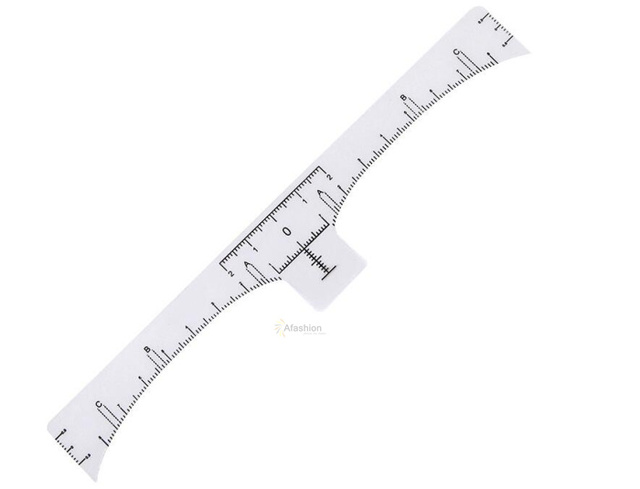 50pcs Permanent Makeup Eyebrow Disposable Accurate Ruler Microblading Shaping Tools Tattoos Measure Stickers 3
