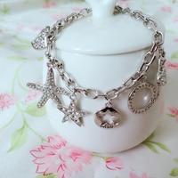 Clearance Bracelets Bangles Women Luxury Jewelry Charm Bracelets With Swarovski Elements Crystal Romantic Gifts For Girlfriend