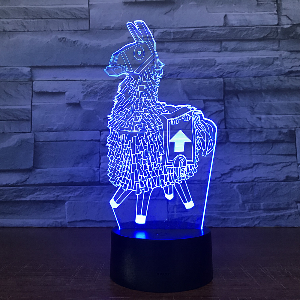 Di trasporto del nuovo Gioco 3D Lampada RGB Variabile Lampada di Umore 7 Luce di Colore ABS di Base Luce di Notte in Acrilico per il Compleanno Regalo di Festa lampada di Lava del capretto