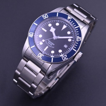 41mm Corgeut watch Black/Sterile dial Sapphire Glass Luminous mechanical Automatic Mens Watch  stainless steel strap