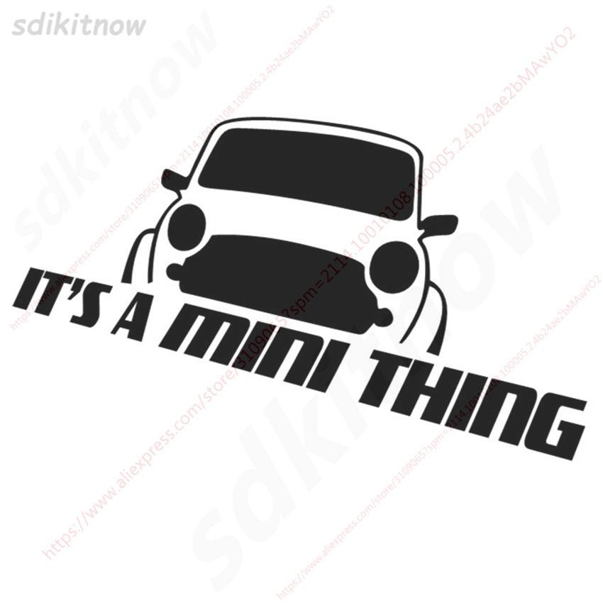 20x8 см это мини вещь Наклейка стиль окна двери украшения тела для BMW mini Cooper R50 R52 R53 R56 R57 R58 R60 - Название цвета: Black