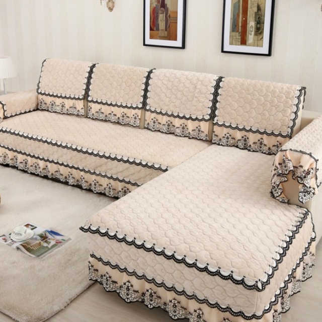 Elegant Multi size Simple Design Sofa Cover with 4 Colors Solid Couch Cushion for Living Room Photo - Awesome 4 cushion sofa Simple