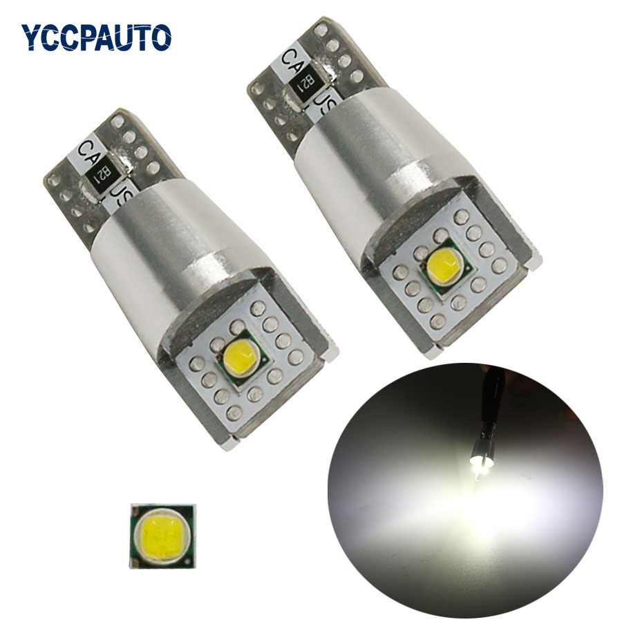 T10 W5W For Car Backup Reverse Dome License Plate lamp 168 194 Bulb High Power Cree LED Chips 6W Canbus NO Error White 2Pcs error free ba9s socket 360 degrees projector lens led backup reverse light r5 chips replacement bulb for peugeot 3008