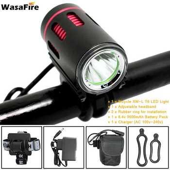 WasaFire bisiklet ışığı XM-L2 LED 2000 Lümen 4 Modu Ön Bisiklet Kafa Işık Pil Şarj Cihazı Sürme Bisiklet bisiklet ışık Hediye