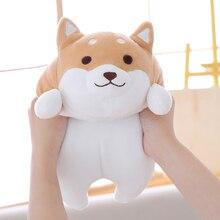 лучшая цена 35/55 cm Soft Shiba Inu Dog Plush Toy Plump Body Dog Stuffed Doll  Pillow For Kids Birthday Gift or Shop Home Decoration