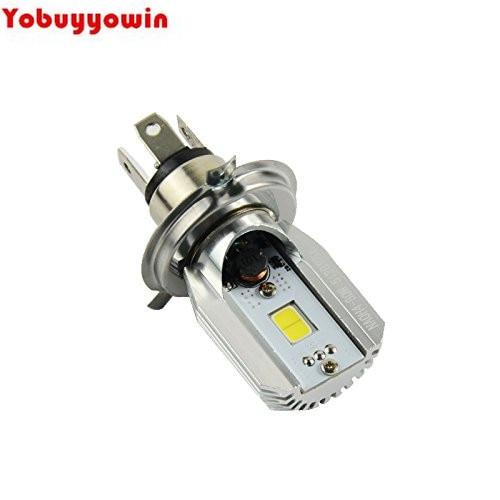 MotorcycleHeadlight Bulb BA20D H/L High Low Dual Beam 6w 800lm Motorbike BA20D LED Lights Kit (BA20D)