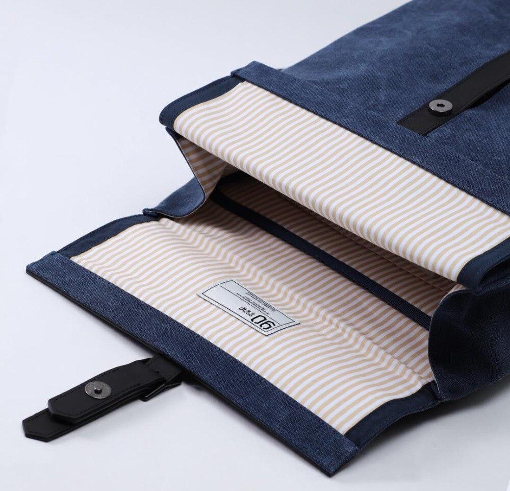 2019 nouveau Xiaomi 90FUN meuleuse Oxford sac à dos décontracté 15.6 pouces pochette d'ordinateur Style britannique sac à dos pour hommes femmes école garçons filles - 3