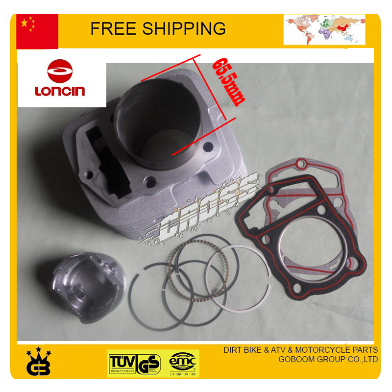 LONCIN CB250 cylinder block assembly 65.5mm piston ring pin gasket cylinder head assy 250cc ATV QUAD DIRT BIKE ACCESSORIES 38mm om36 cylinder kit fits efco oleo mac om emak 436 sparta 36 37 om38 trimmer zylinder w piston ring pin clips assembly