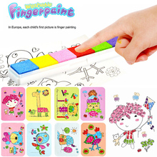 8Pcs/Set Cartoon Kids Finger Painting Craft Colorful Diy Finger Paint Education Toys For Children Learning Picture Drawing Toys