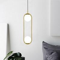 Modern iron ring Pendant Lights white glass ball CafeRoom/Bar Lamp Glass Pendant Lamps Decoration Indoor Lighting E27