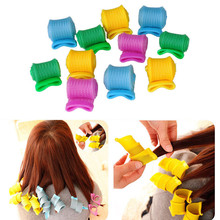 18pcs/lot The black magic hairdressing tools diy manual curlers Thread form big waves snail curls Curly hair artifact