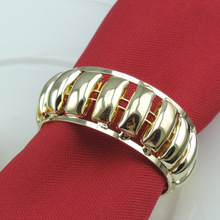 10PCS high-grade napkin ring Metal alloy Chinese-style European meal buckle