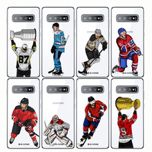 Sport Ice Hockey Sidney Crosby Cartoon Soft Silicon Phone Cases Cover Capinha Coque for Samsung J8 2018 J6 Plus S10 PLUS