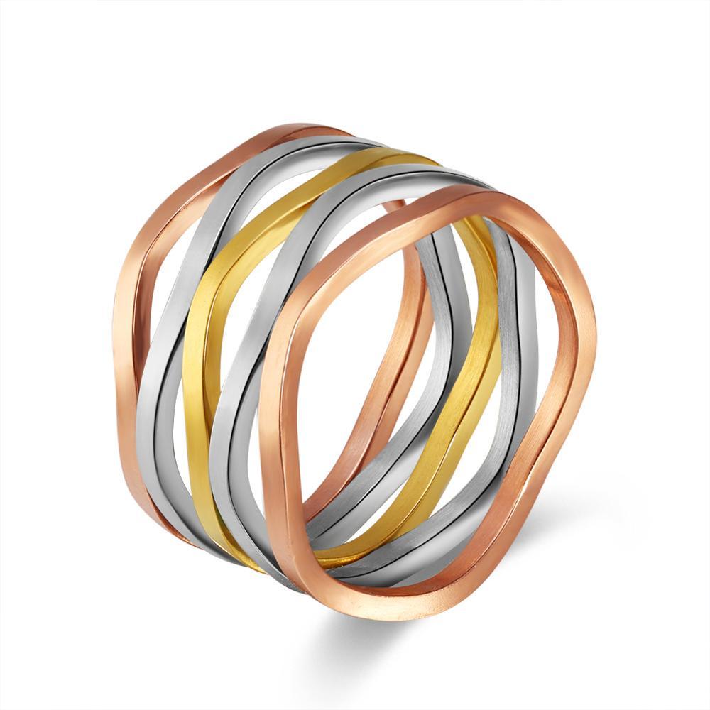 Новая Мода Mix Цветные кольца для Для женщин очаровательные 3 цвета Обручение широкое кольцо zk40 ...