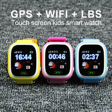 Q90 gps smartwatch kinder/kinder/baby smart watch touchscreen sos anruf armbanduhr sos ort/devicetracker/anti verloren monitor