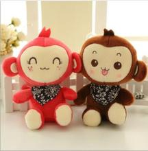 WYZHY Mascot bib monkey figurine plush toy wedding mixed color delivery 20cm