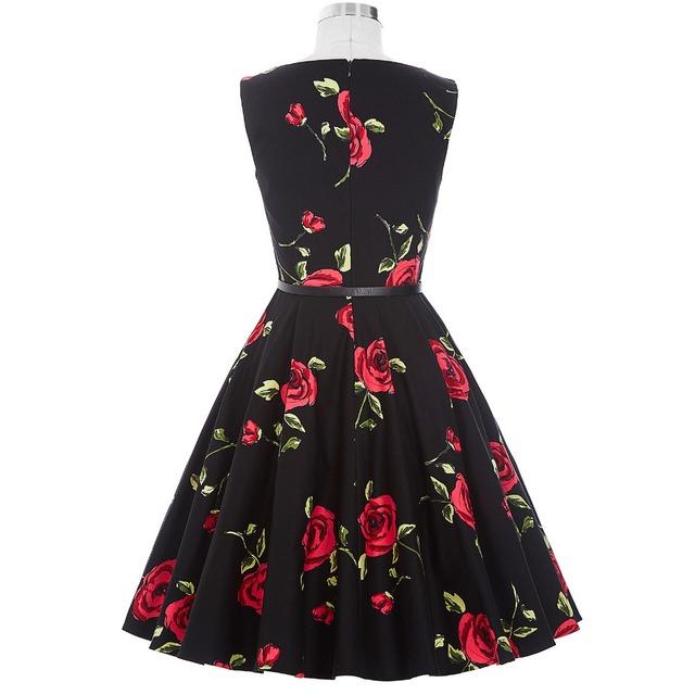 Women Pinup Retro Robe Rockabilly 50s Vintage Dress