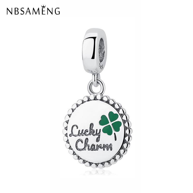 Original 100 925 Sterling Silver Bead Charm Lucky Four