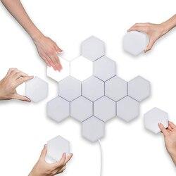 16 unids/set Quantum Light Touch sensible Modular hexagonal lámpara de pared minimalista personalizado novedad lámpara de noche decoración creativa