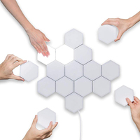 16pcs/set Quantum Light Touch Sensitive Modular Hexagon Light Wall Lamp Minimalist Custom Novelty Night Lamp Creative Decoration