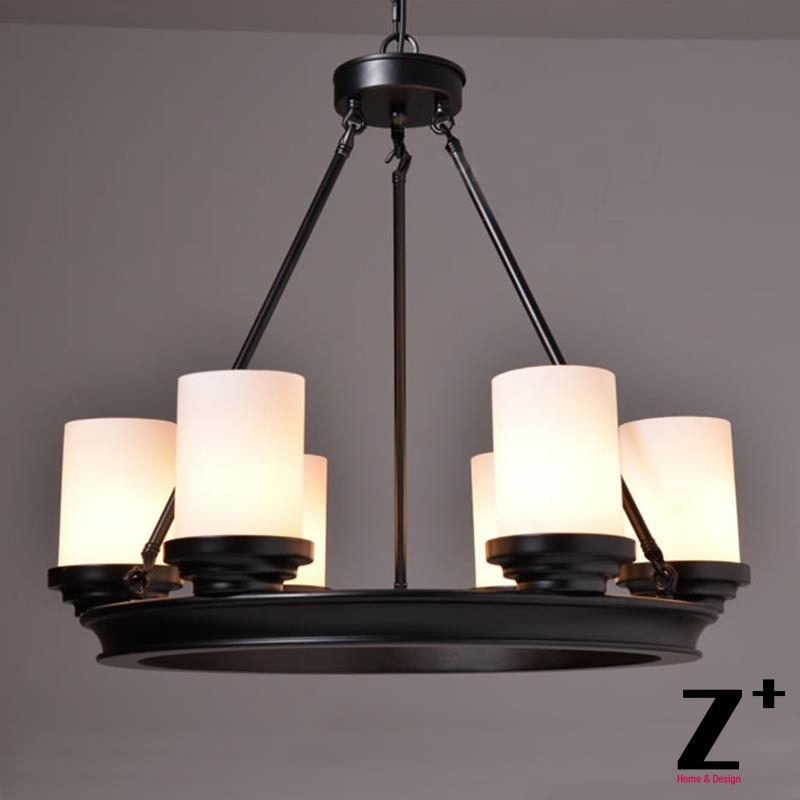 Vintage Pillar Candle Round Chandelier Wrought Iron Wood Plate Metal E27 Free Shipping In Pendant Lights From Lighting On