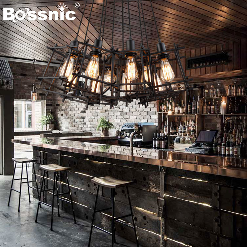 BossnicLighting Industrial restoring ancient ways Pendant light Iron Droplight for Living room|Dining room|Bedroom|Hotel lamp