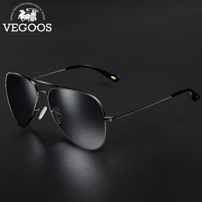 VEGOOS Brand Designer Men Sunglasses Pilot Aviation Gradient Lenses Eyewear For Men's Unisex Sun Glasses UV Protection #3025