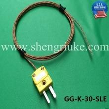 Омега стекло оплетка изолированный Тип K термопары провода стекловолокна Горячие Термометры GG-K-30-SLE