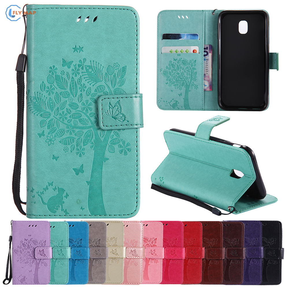 Flip Leather Case Cover For <font><b>Samsung</b></font> Galaxy J3 J 3 2017 SM-J330 SM-J330F Phone Wallet Coque J330 SM-<font><b>J330FN</b></font> SM-J3300 SM-J330F/DS image