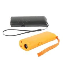Pet Dog Repeller Trainer Anti Barking Device Ultrasonic LED Flashlight